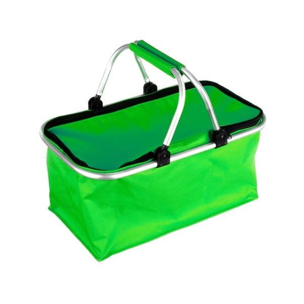 Přenosný nákupní košík Vetro, zelený