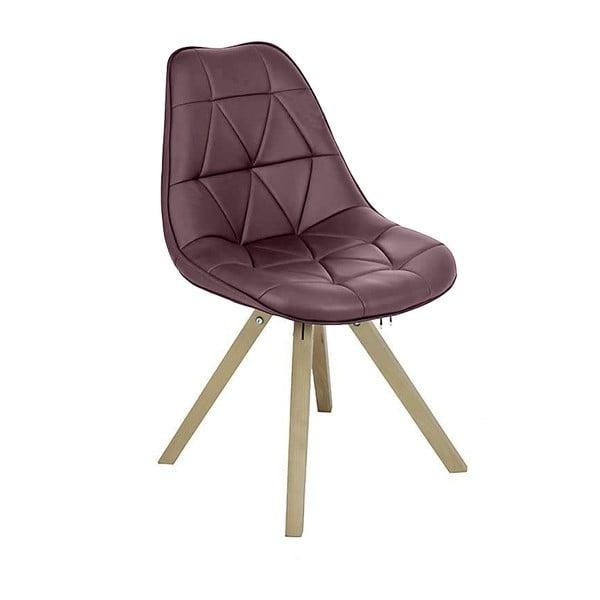 Hnědá židle Pu Chair