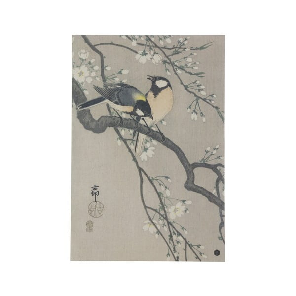 Plakát z ručně vyráběného papíru BePureHome Blossom, 47x32cm