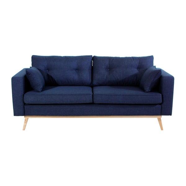 Tmavě modrá trojmístná pohovka Max Winzer Tomme