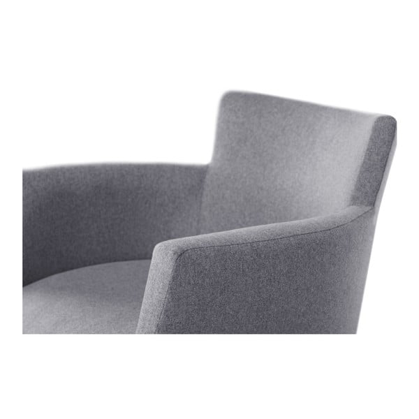 Šedá židle s černými nohami z bukového dřeva Ted Lapidus Maison Santal