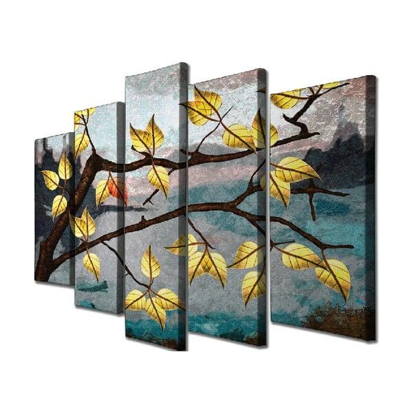 5dílný nástěnný obraz na plátně Leave Fall