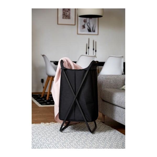 Černý skládací koš na prádlo Wenko Bin