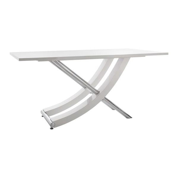 Lesklý bílý jídelní stůl Støraa Carl, 90x160cm