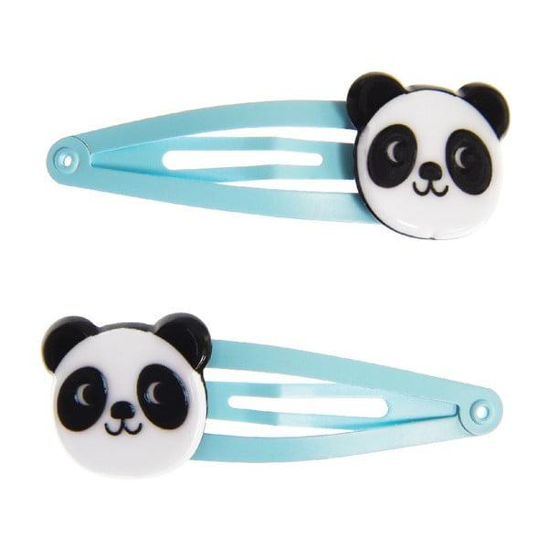 Set 2 clame pentru păr Rex London Miko The Panda