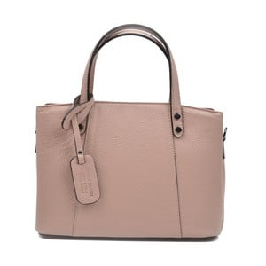 Růžovobéžová kožená kabelka Anna Luchini Marfusso