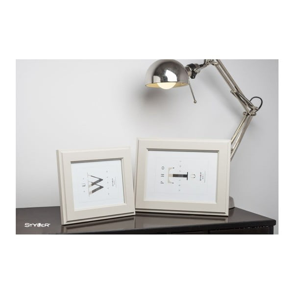 Béžový rámeček na fotografii Styler Malmo, 30x40cm