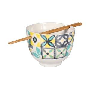 Porcelánová miska s hůlkami Sema Carreau Ocean