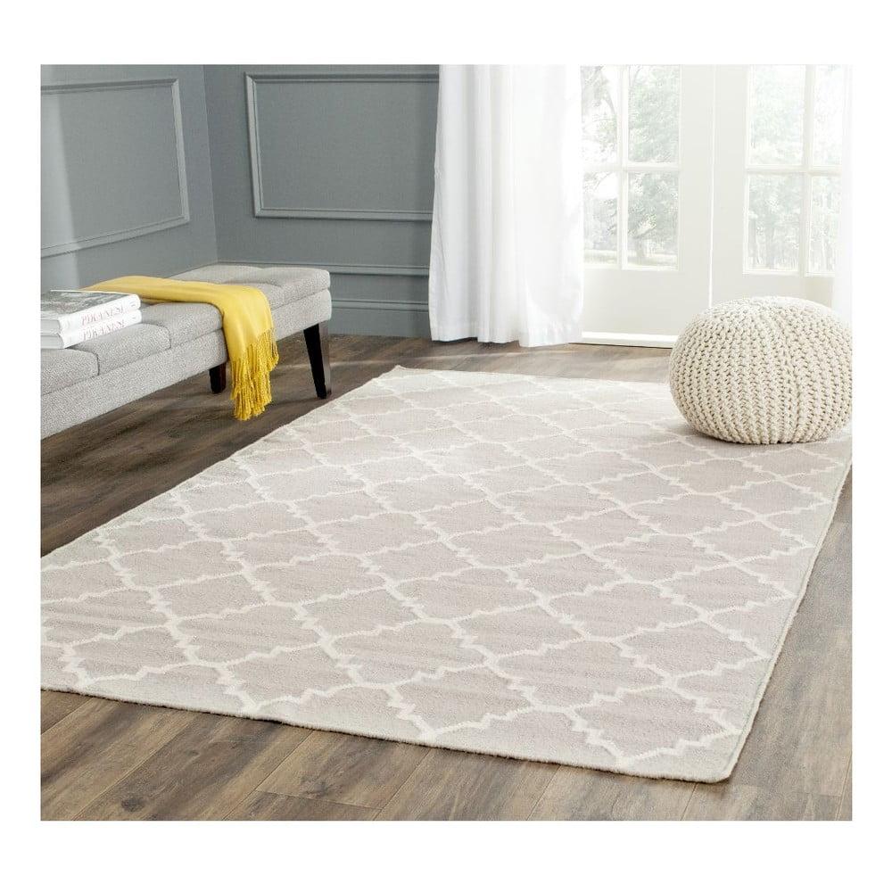 Produktové foto Šedobéžový vlněný koberec Safavieh Darien, 243 x 152 cm
