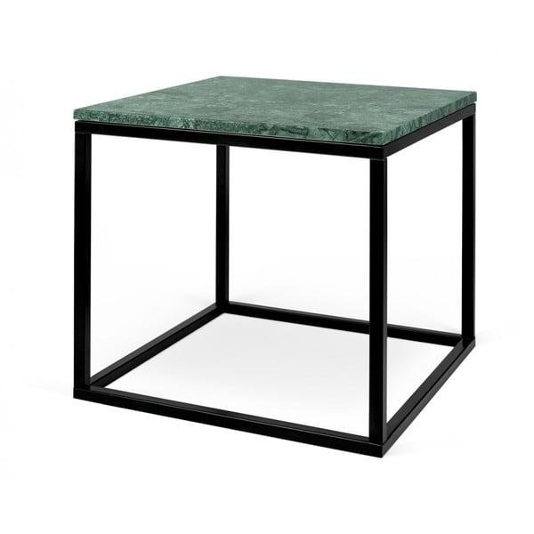 Zelený mramorový příruční stolek TemaHome Prairie, 50 x 47 cm