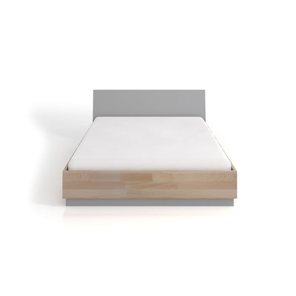 Dvoulůžková postel z bukového a borovicového dřeva SKANDICA Finn, 160 x 200 cm