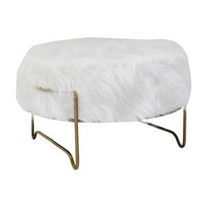 Bílá stolička Kare Design Brass, ⌀ 55 cm