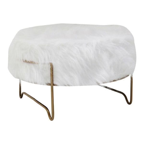 Brass fehér ülőke, ⌀ 55 cm - Kare Design