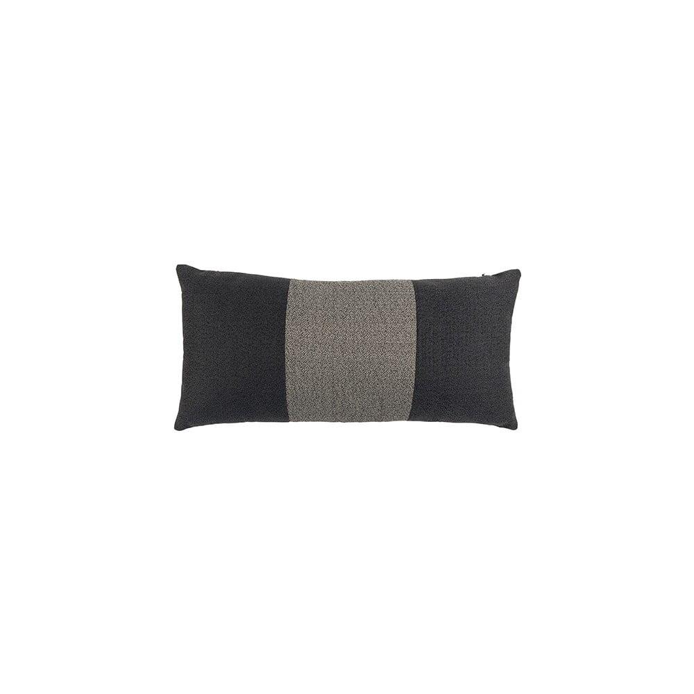 Černý polštář White Label Nick, 60x30cm