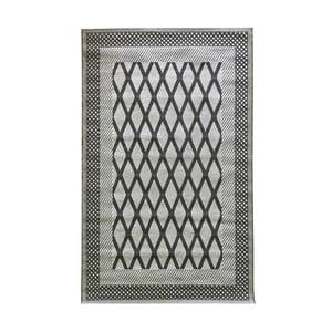 Šedý vysoce odolný koberec Floorita Net Grey, 194 x 290 cm