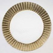 Set skleněných talířů Clear Gold, 26,5 cm, 2 ks