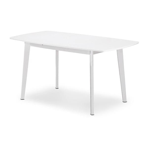 Rozkládací jídelní stůl Teo, 120-150 cm, bílý