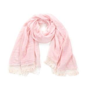 Růžový šátek Art of Polo Romance