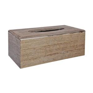 Dřevěný zásobník na kapesníky J-Line Clean