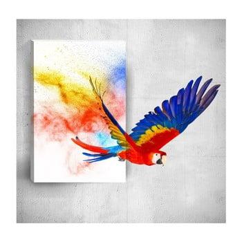 Tablou de perete 3D Mosticx Colourful Parrot, 40 x 60 cm