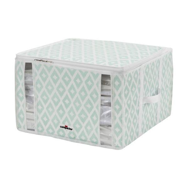 Bílo-zelený úložný box Compactor Compactino, 40 x 42 x 25 cm