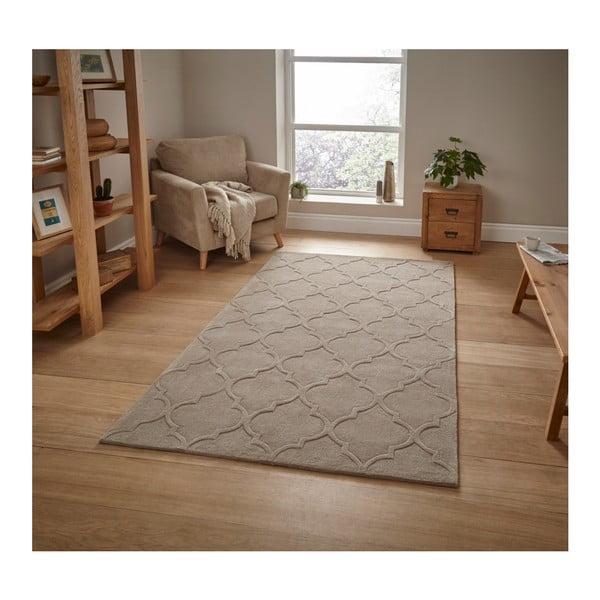 Béžový ručně tuftovaný koberec Think Rugs Hong Kong Puro Beige, 120 x 170 cm