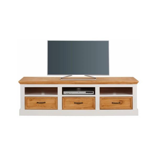 Suzie fehér TV asztal masszív borovi fenyőből - Støraa