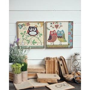 Nástěnná dekorace Owls, 2 ks