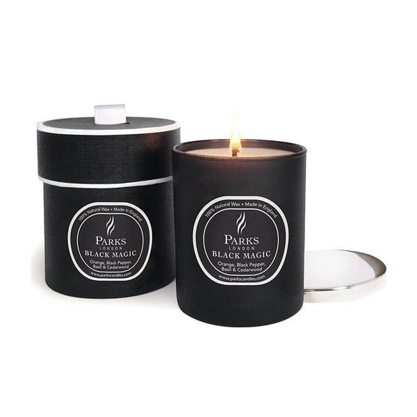 Lumânare parfumată Magic Candles, aromă portocală, piper negru și cedru, 50 ore