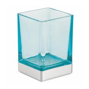 Modrý skleněný koupelnový kelímek InterDesign