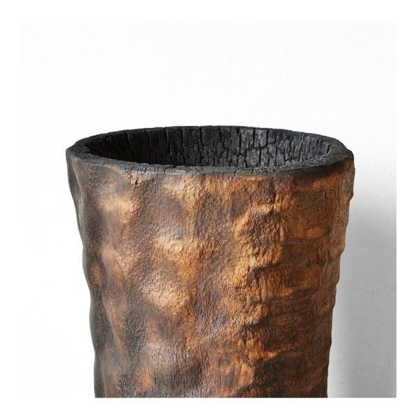 Vypálená palmová váza Pot