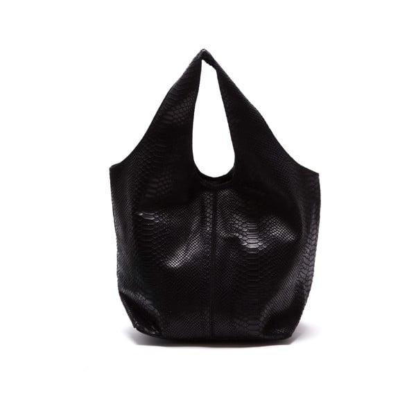 Černá kožená kabelka Luka