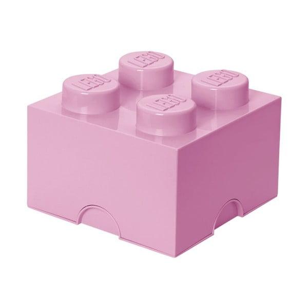 Cutie depozitare LEGO®, roz deschis