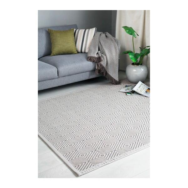 Béžový vzorovaný oboustranný koberec Narma Kalana, 70 x 140cm