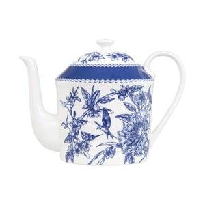 Konvička z kostního porcelánu se sítkem na sypaný čaj Ashdene Indigo Blue, 600ml