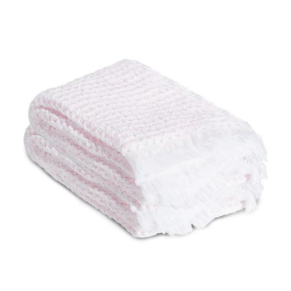 Ručník Whyte 65 x 100 cm, bílý/růžový