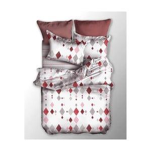 Lenjerie de pat reversibilă din microfibră DecoKing Basic Romb, 200 x 220 cm