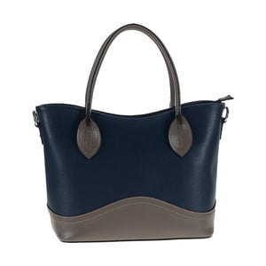 Tmavě modrošedá kožená kabelka Tina Panicucci Baso