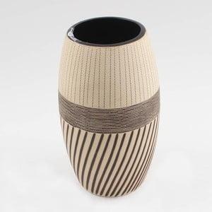 Keramická váza Brown Ocean, 25x14 cm