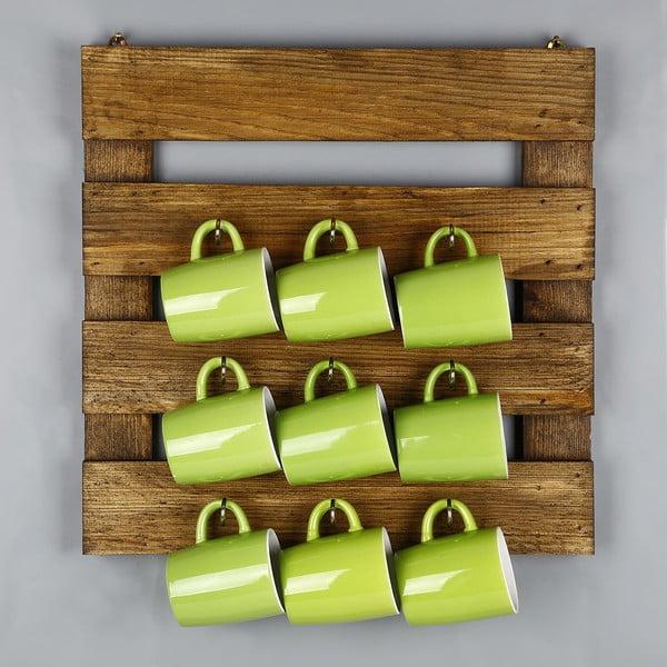 Catalin Vienna tömörfa konyhai polc bögrék tárolására, 45 x 45 x 6 cm