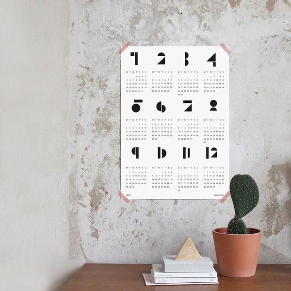 Nástěnný kalendář SNUG.Toy 2016, bílý