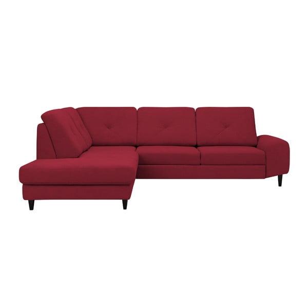 Červená rohová rozkládací pohovka Windsor & Co Sofas, levý roh Beta