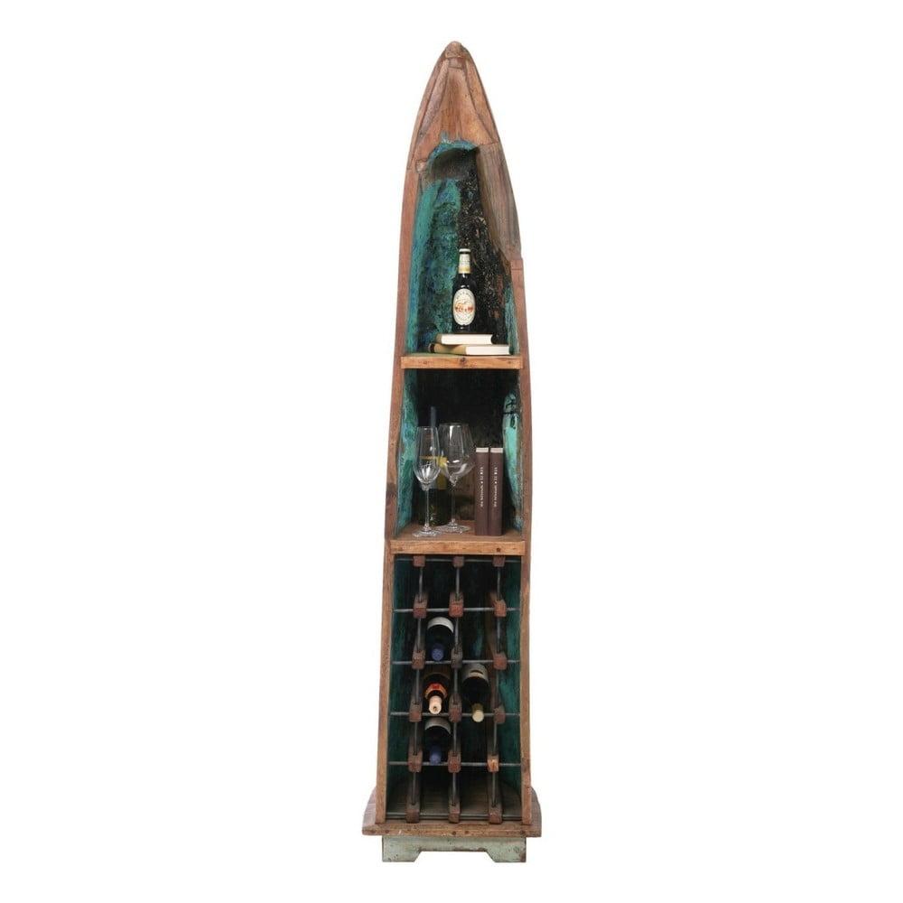 Stojan na víno z recyklovaného teakového dřeva Kare Design Boat Trip
