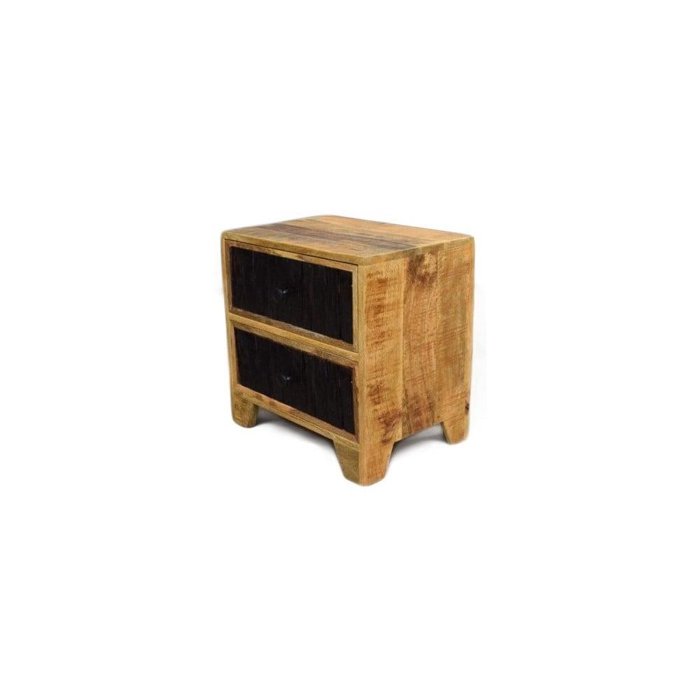 Odkládací stolek z masivního mangového dřeva Massive Home Bella, délka 50 cm