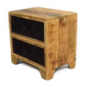 Odkládací stolek z masivního mangového dřeva Massive Home Bella, délka50cm