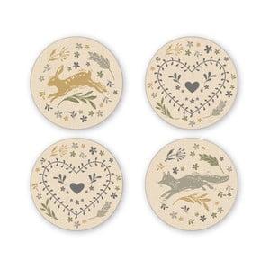 Sada 4 porcelánových podtácků Cooksmart England Foxy