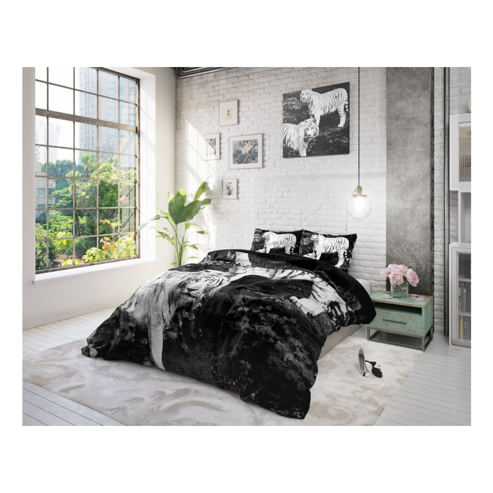 povle en z mikroperk lu sleeptime tigers 140 x 220 cm bonami. Black Bedroom Furniture Sets. Home Design Ideas