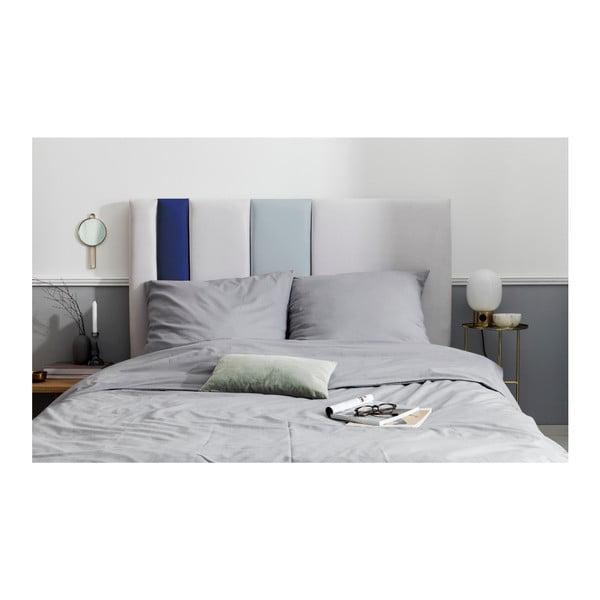 Šedo-modré čelo postele Mazzini Sofas Dahlia, 120 x 180 cm