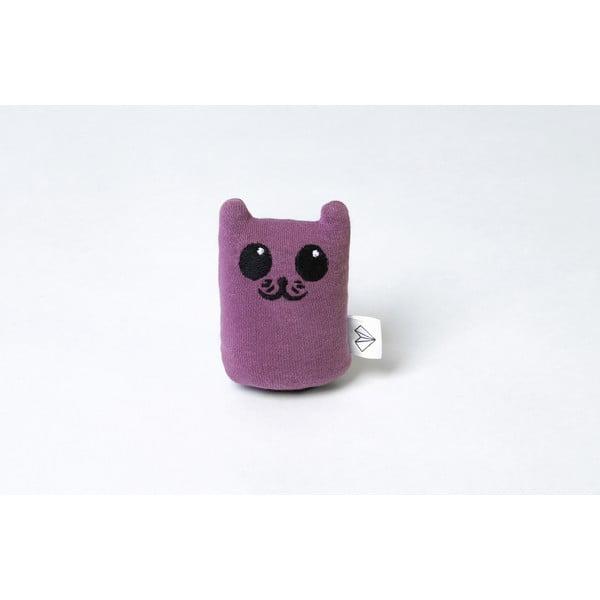 Mini plyšák Kočka v krabičce, fialový