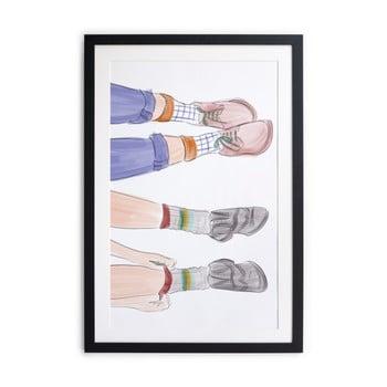 Tablou/poster înrămat Really Nice Things Feet 40x60cm de la Really Nice Things